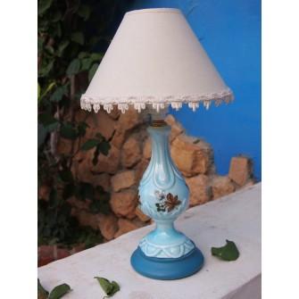 Lámpara de Porcelana Flores